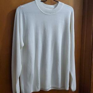 White Kim Roger's Sweater